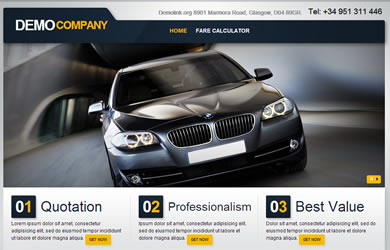 Taxi Website Design